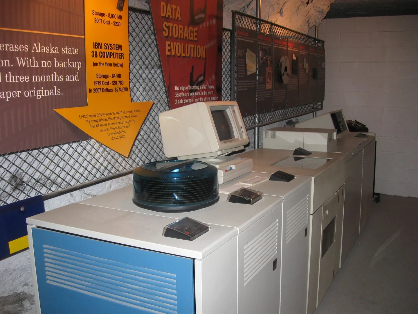 ancient computers, Underground Salt Museum, Hutchinson, Kansas