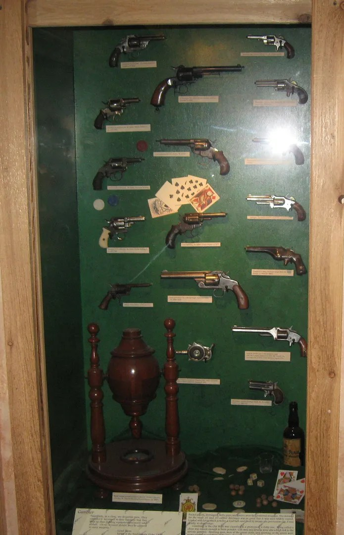Wild West guns, Boot Hill Museum, Dodge City, Kansas