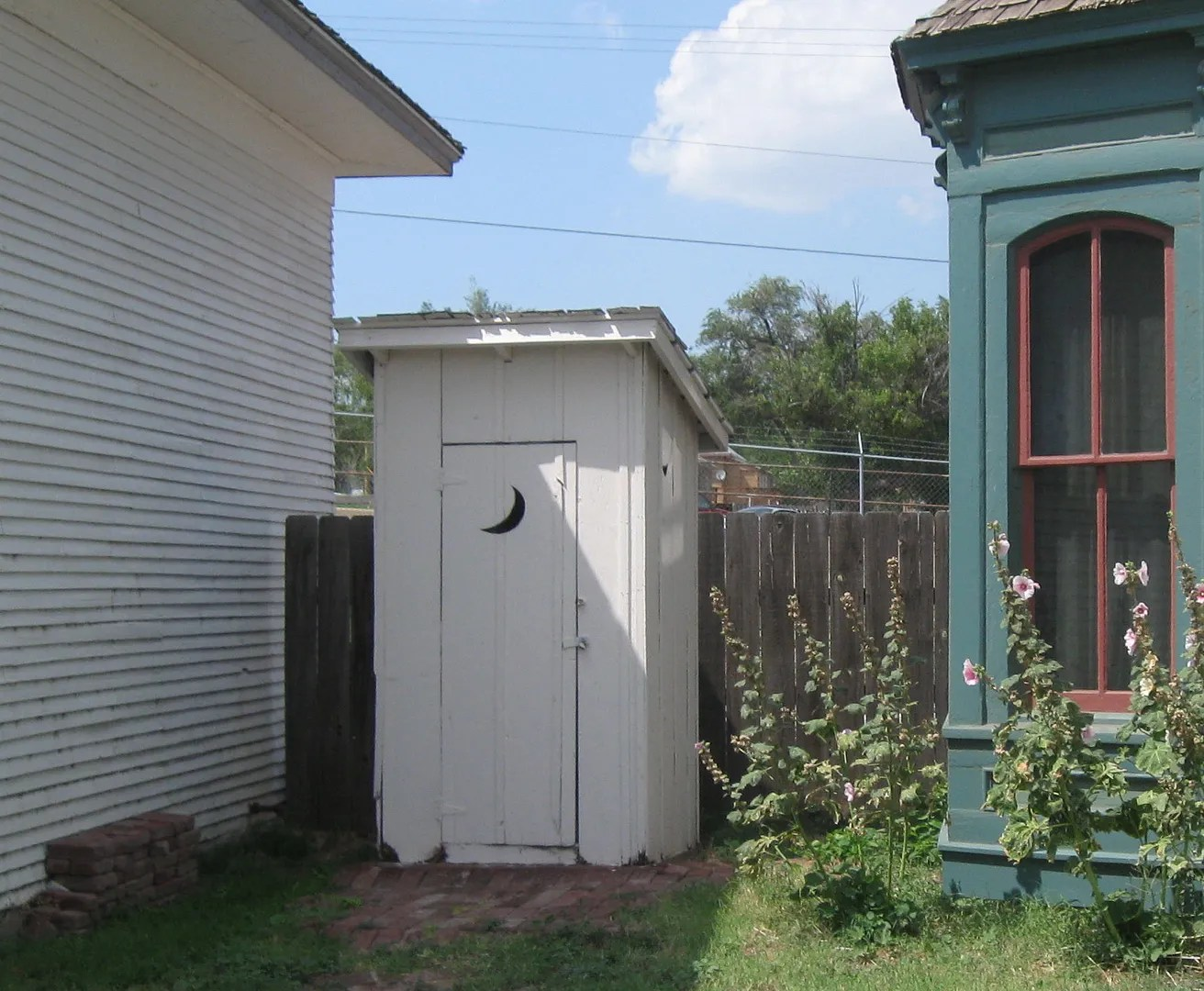 outhouse, Boot Hill Museum, Dodge City, Kansas