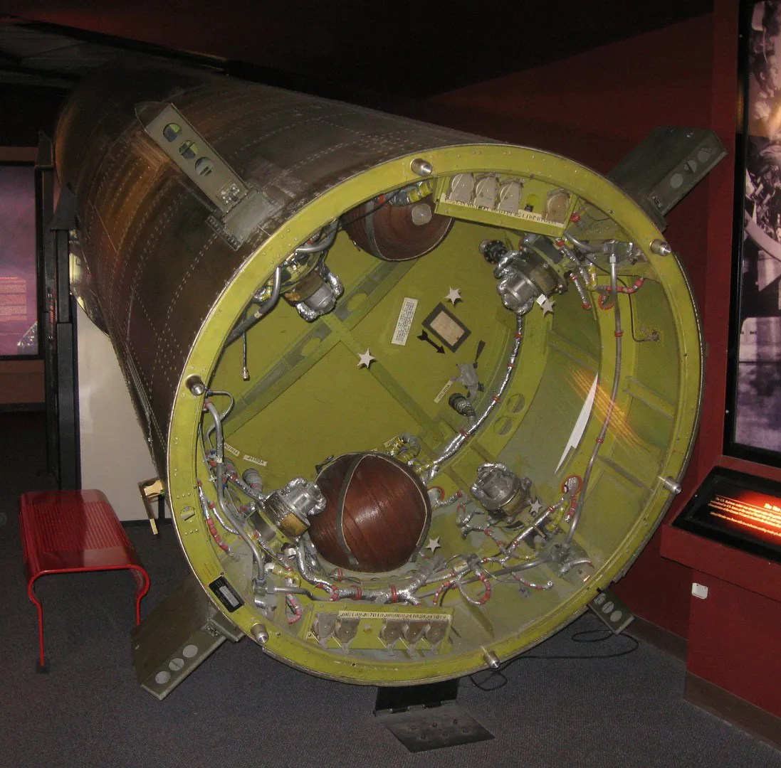 rocket chamber, Kansas Cosmosphere & Space Center, Hutchinson, Kansas