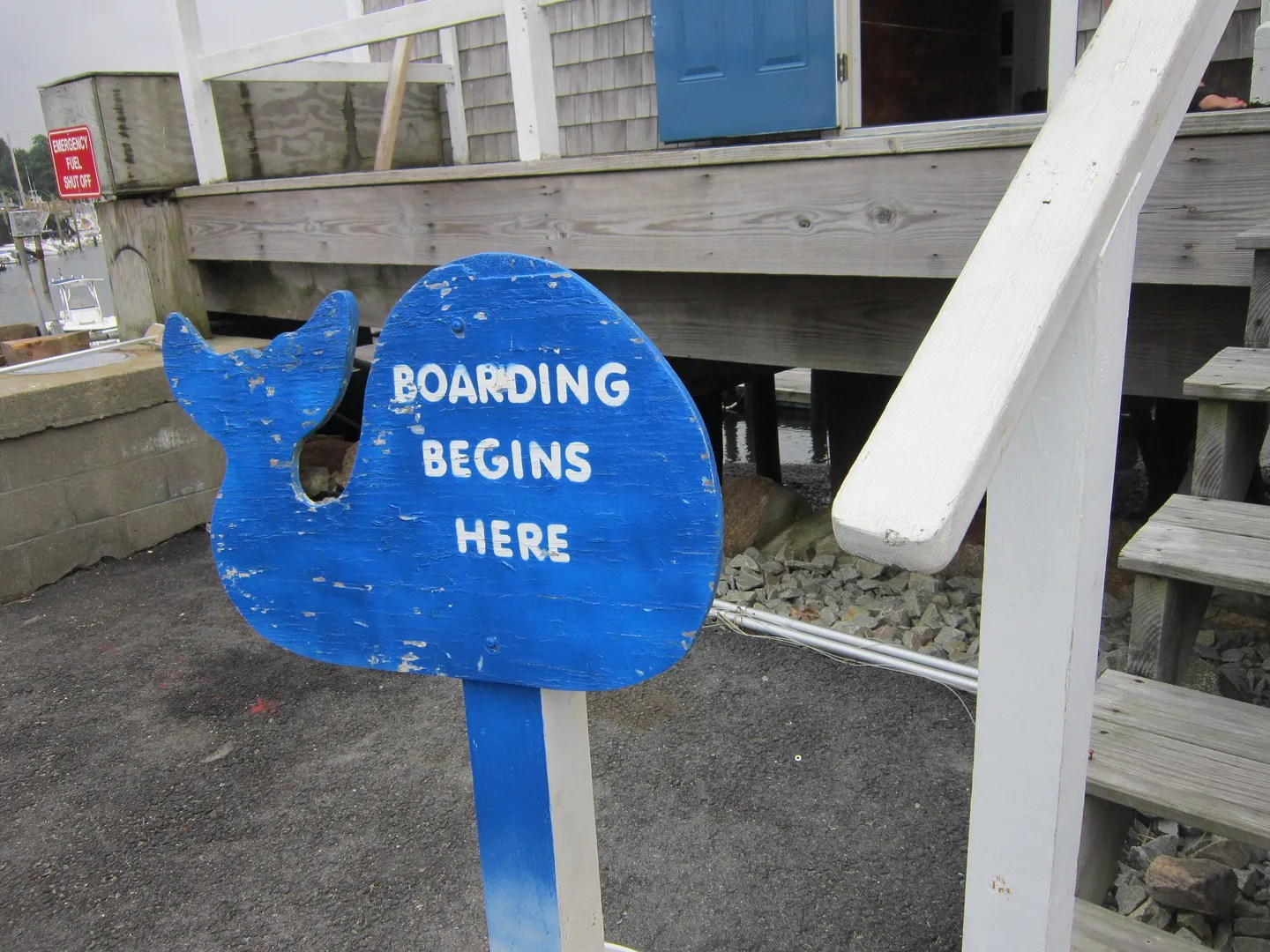 whale boarding sign, Cape Cod, Massachusetts