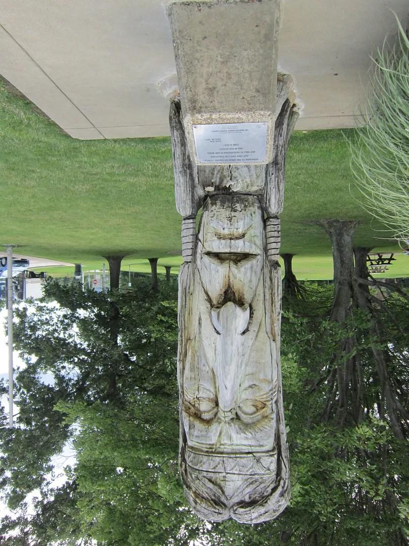 Seneca Indian sculpture, 1973