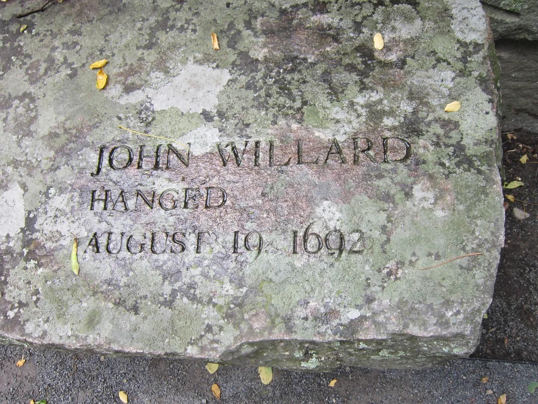 John Willard bench, Salem Witch Trials Monument, Salem, Massachusetts