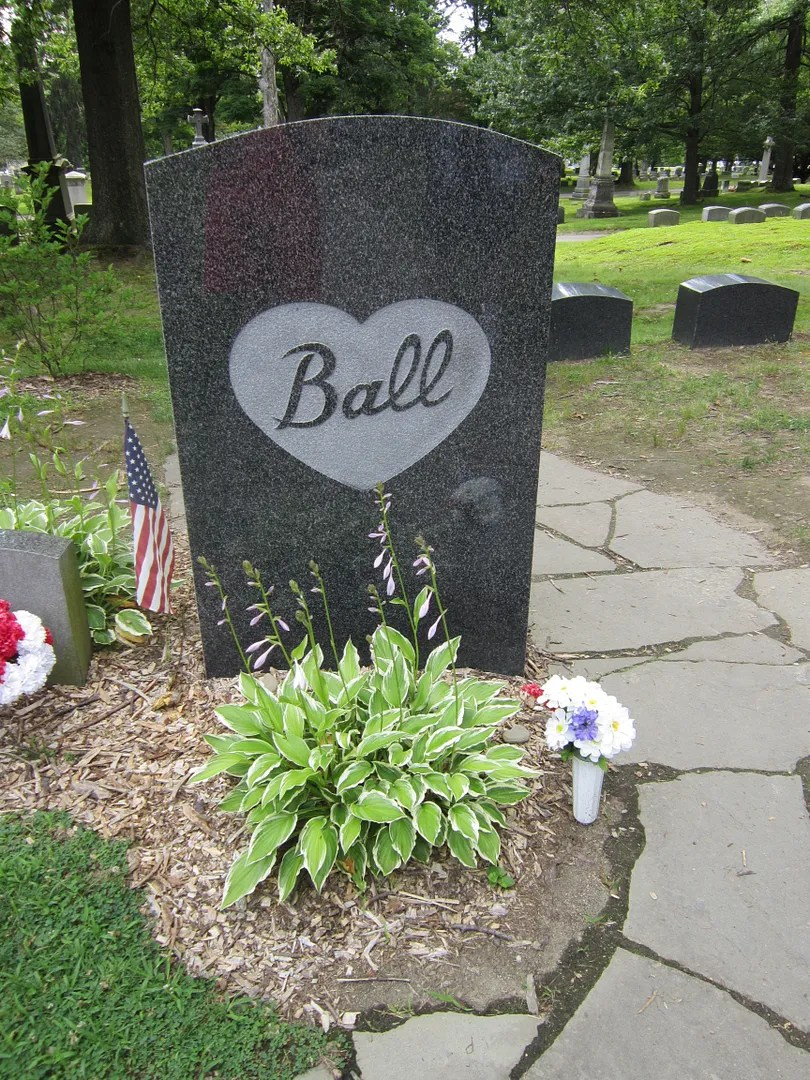 Lucille Ball gravesite, Lake View Cemetery, Jamestown