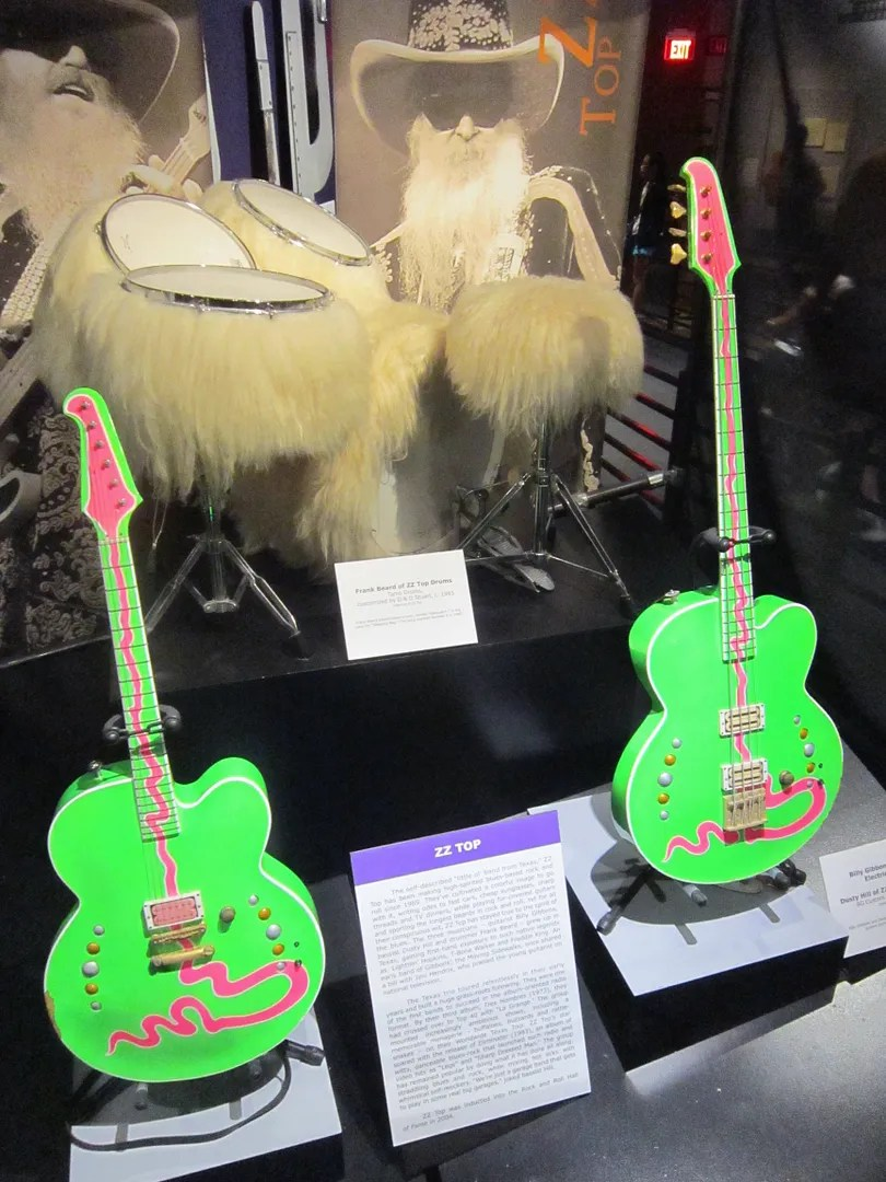 ZZ Top green guitars