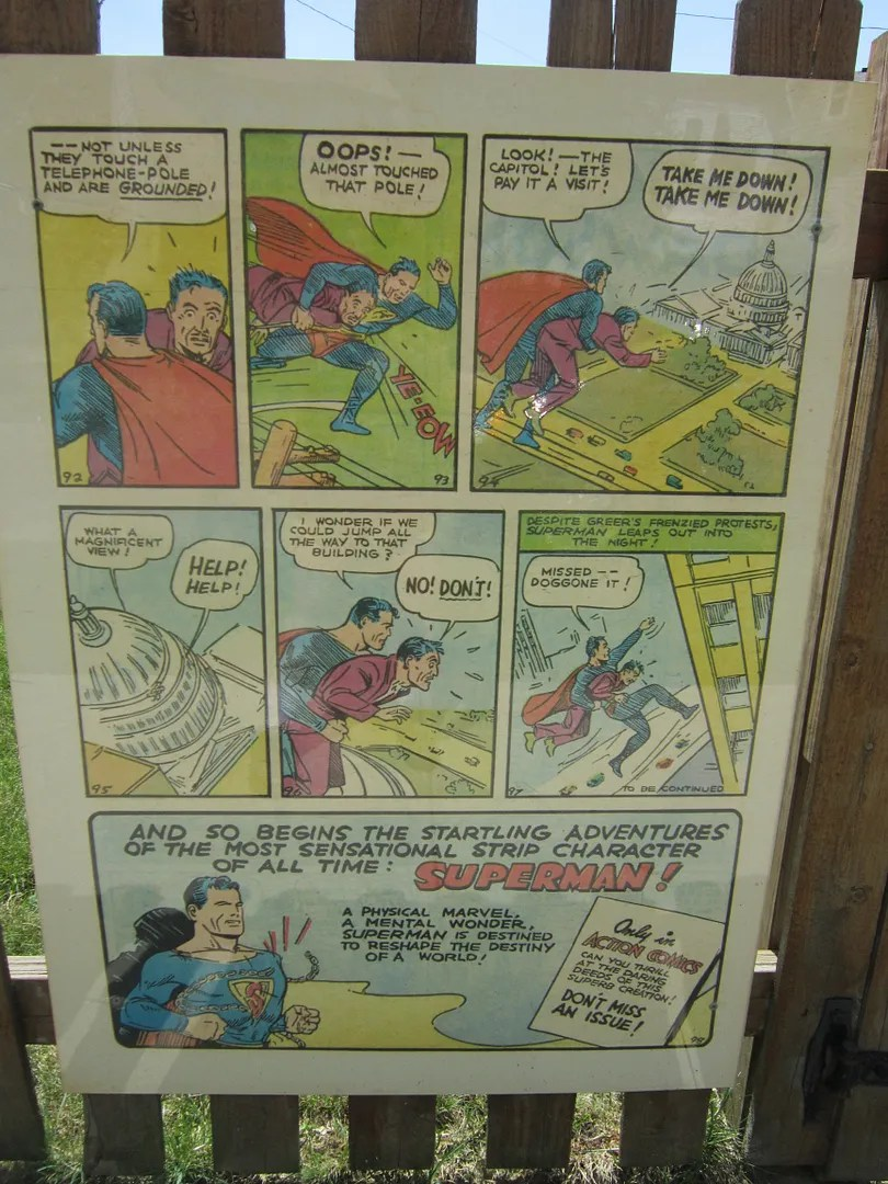 Action Comics #1 Superman fence, Cleveland