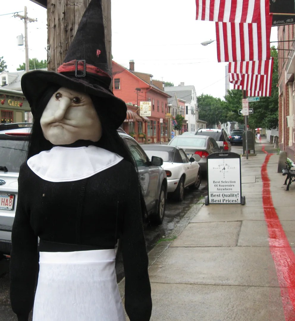 stuffed pilgrim witch, Salem, Massachusetts