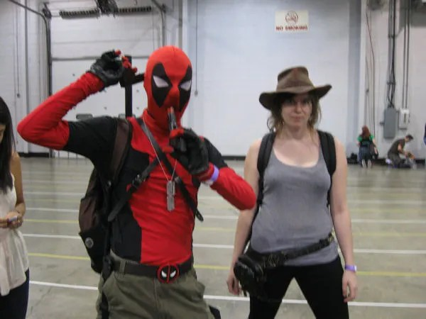 Deadpool, Lara Croft, Tomb Raider, Wizard World Chicago
