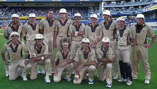 nz cricketers dressed in Beige for twenty20