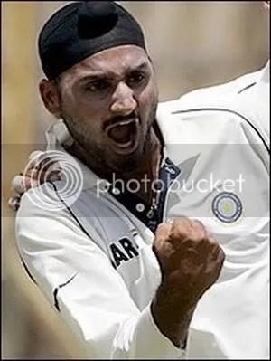 Harbhajan gets a wicket