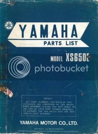 XS650: XS650E Parts List | thexscafe