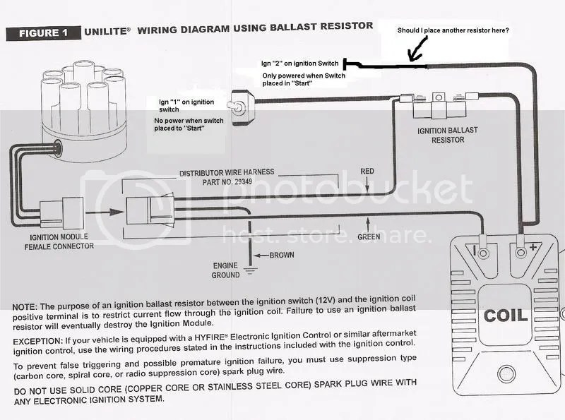 Ballast Resistor Mallory Unilite Wiring Diagram. Electronic Ballast on electronic ignition diagram, omc ignition switch diagram, mallory carburetor diagram, mallory dist wiring-diagram, fairbanks morse magneto diagram, atwood rv water heater diagram, mallory high fire wiring-diagram, msd 6al diagram, basic car electrical system diagram, inboard outboard motor diagram,