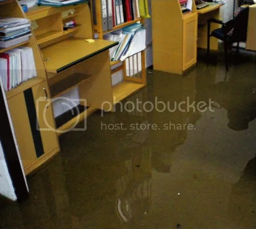Dili office flooding