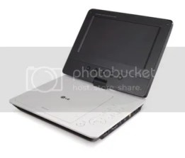 A sleek LG Portable DVD with Monitor is being sold for only Php 6, 790