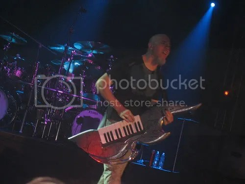 If youre going to play a keytar, at least make it look like something you can cut a man in half with