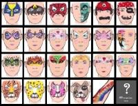 face painting design sheet halloween