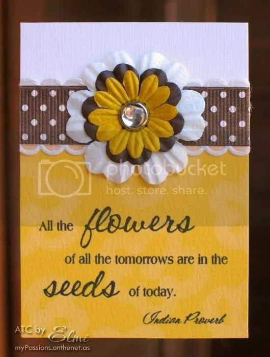 'All the flowers of all the tomorrows...' ATC