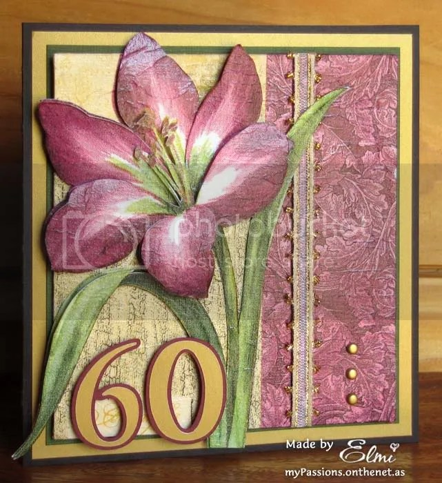 Luxurious 60th Birthday Card