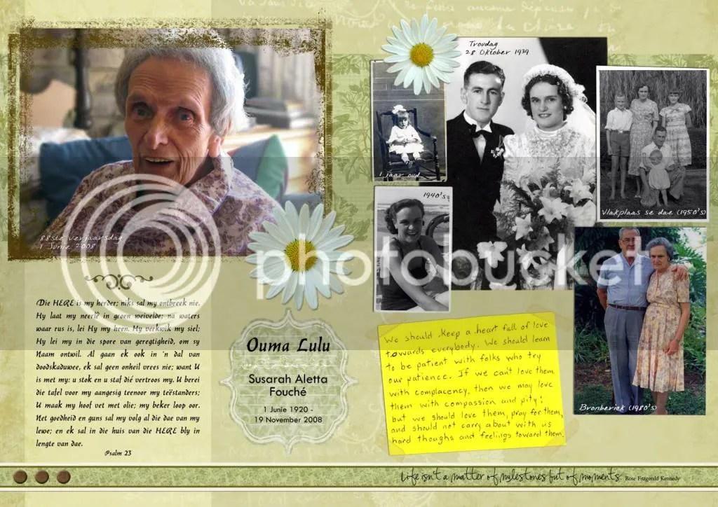 Ouma Lulu funeral letter