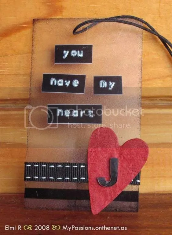 'You have my heart tag'