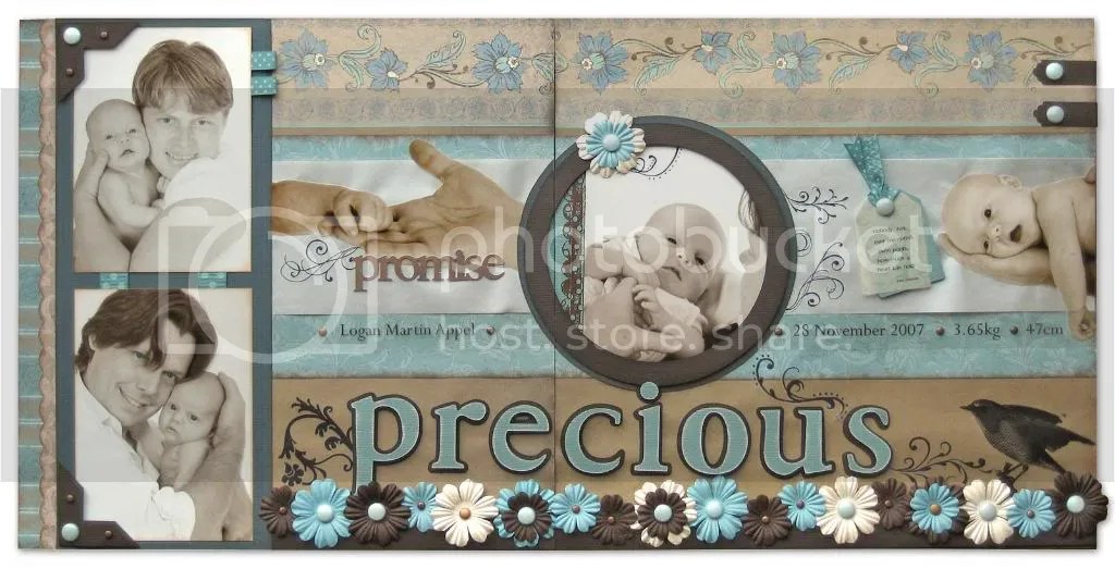 """Precious"" scrapbook layout"