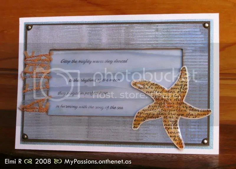 Sea Star and Ocean card