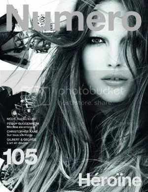 Numeros August issue crops up on Catherine McNeil, the angles kind of cool but the shot doesnt bowl me over.