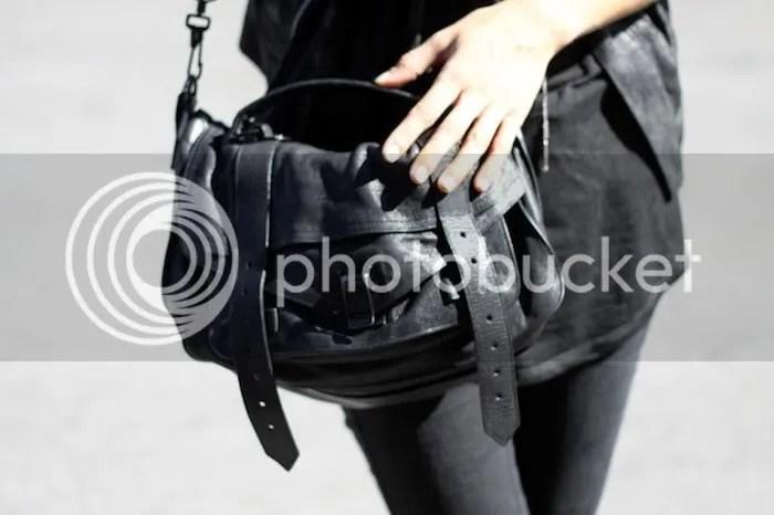 Proenza Schouler PS1 in black worn by Freja Beha Erichsen