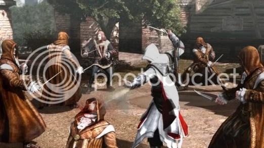 Salai and Ezio battling Hermetecists