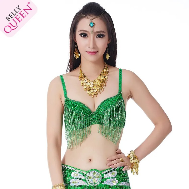 Plus Size Dancewear Polyester Belly Dance Tops With Tassel ...