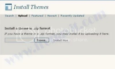 upload Themes