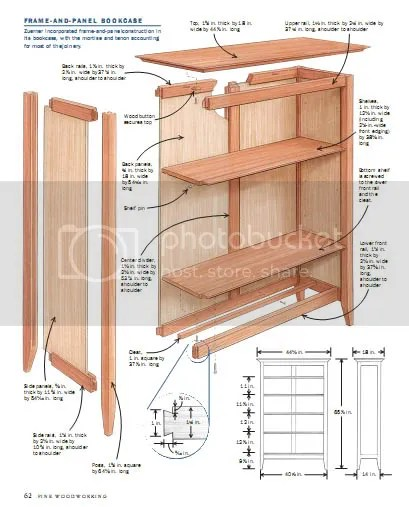 Fine WoodWorking - 18 Bookcase plans (PDF)