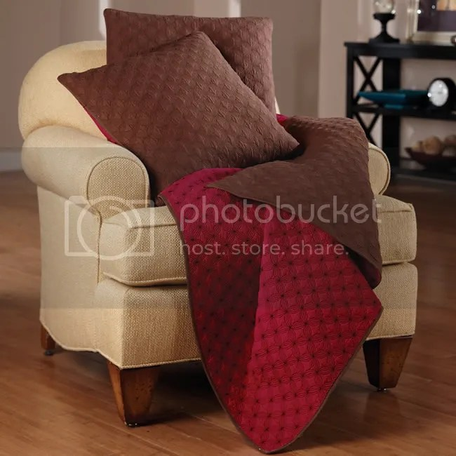 Red Barn Throw and Pillow