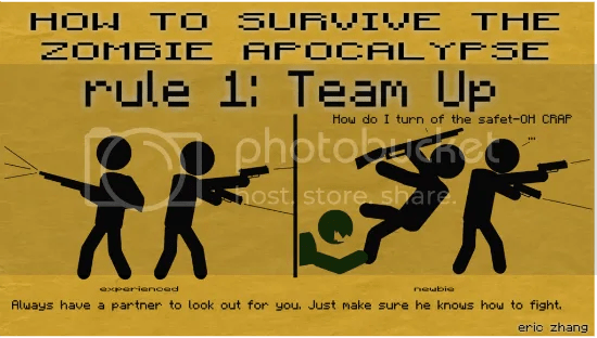 how to survive the zombie apocalypse: rule 1