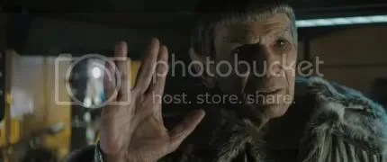 Leonard Nimoy as Old Spock in Star trek Movie