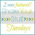 I was featured on Share Your Stuff Tuesday