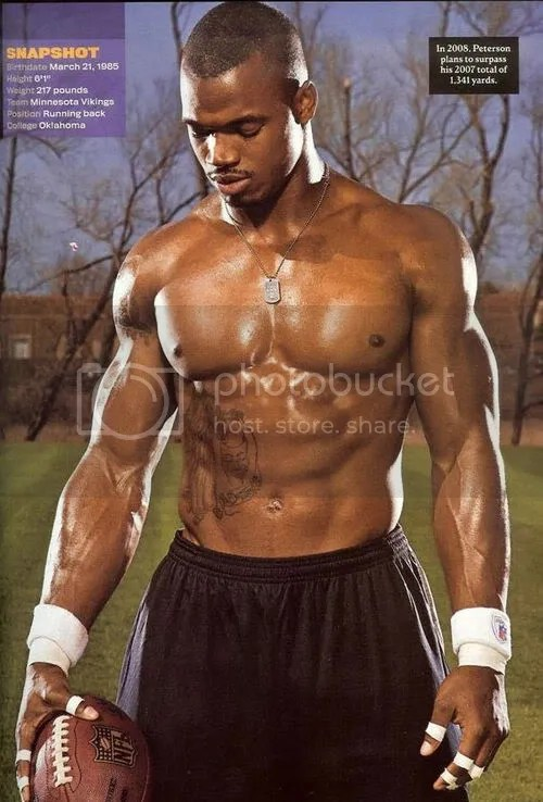 Adrian Peterson Workout Training Diet Routine- Fitness Muscle Body Abs, 40 Time Vertical Bench Squat