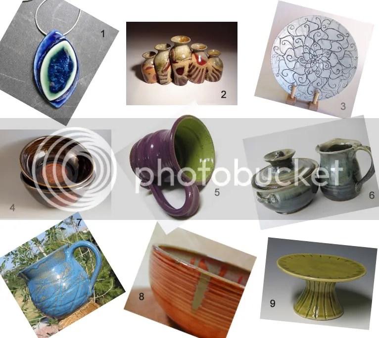 Etsy Pottery Inspiration Board