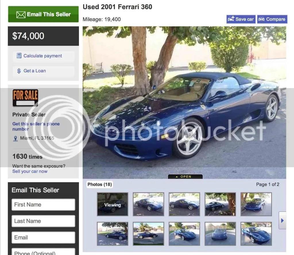 Used Ferrari 360 Spider