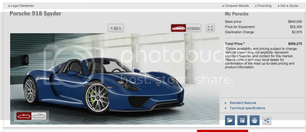 Porsche 918 Spyder Configurator