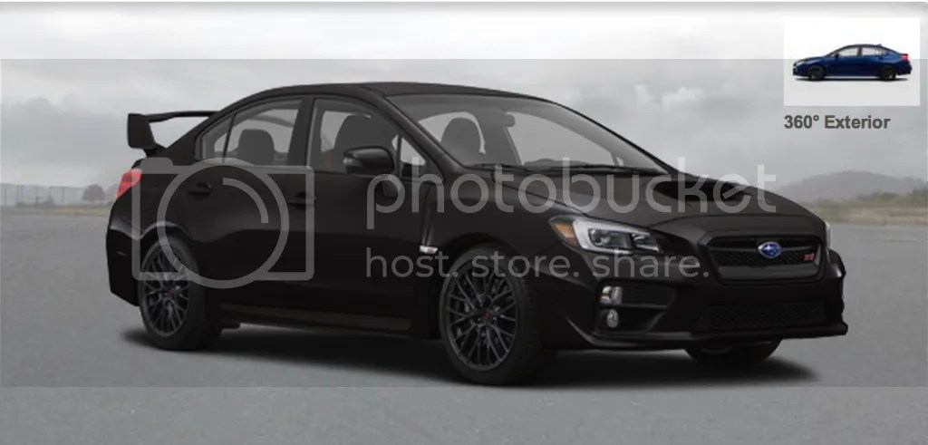 Blacked out 2015 Subaru WRX STI
