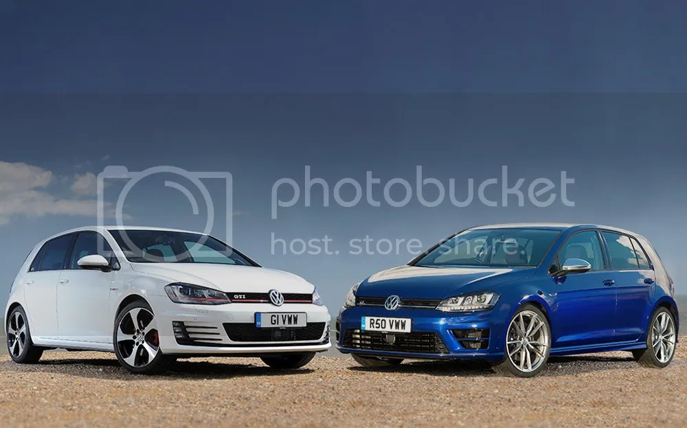 Mk7 VW Golf R and Golf GTI