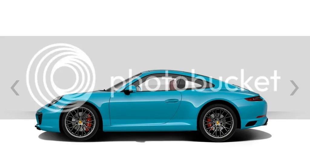 2016 Porsche 911 Carrera S Miami Blue Side