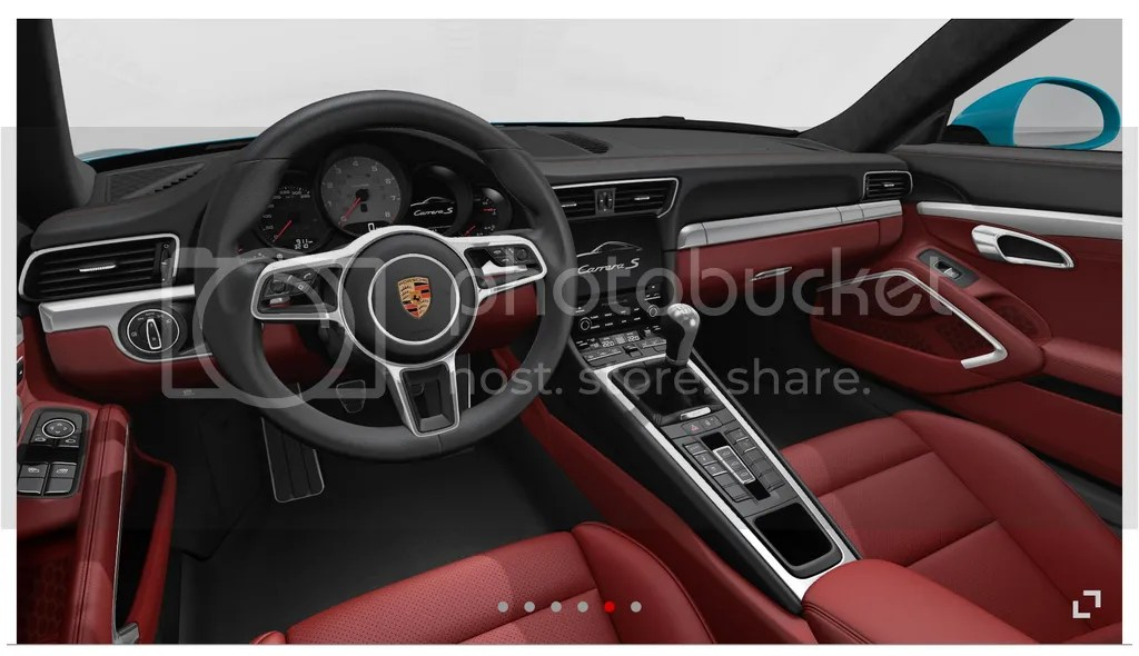 2016 Porsche 911 Bordeaux Red Interior