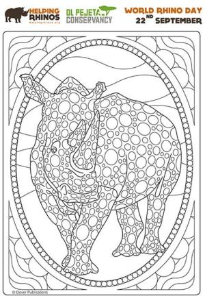Colouring on World Rhino Day
