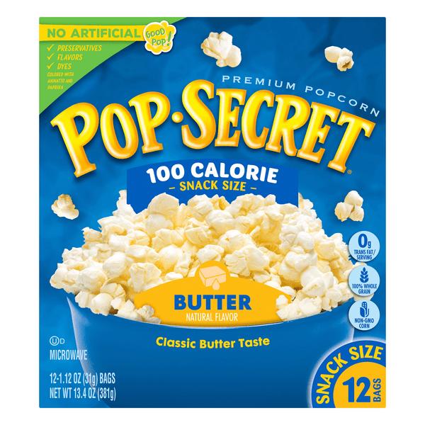 pop secret 100 calorie pop microwave popcorn butter snack bags
