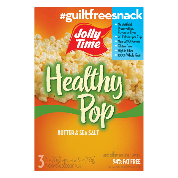 jolly time healthy pop microwave popcorn butter flavor
