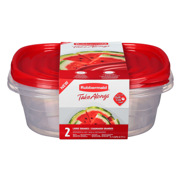 rubbermaid take alongs large squares containers lids