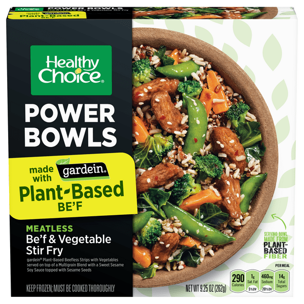 healthy choice power bowls plant based meatless be f vegetable stir fry