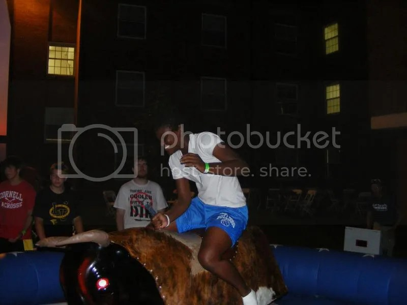A mechanical bull is always good for some laughs at other peoples expense.